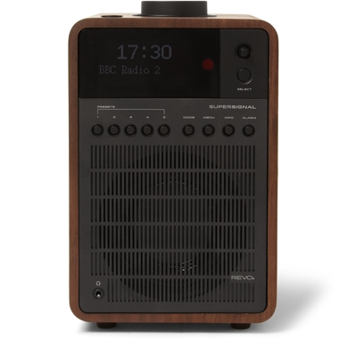 Revo SuperSignal Walnut and Aluminum Radio