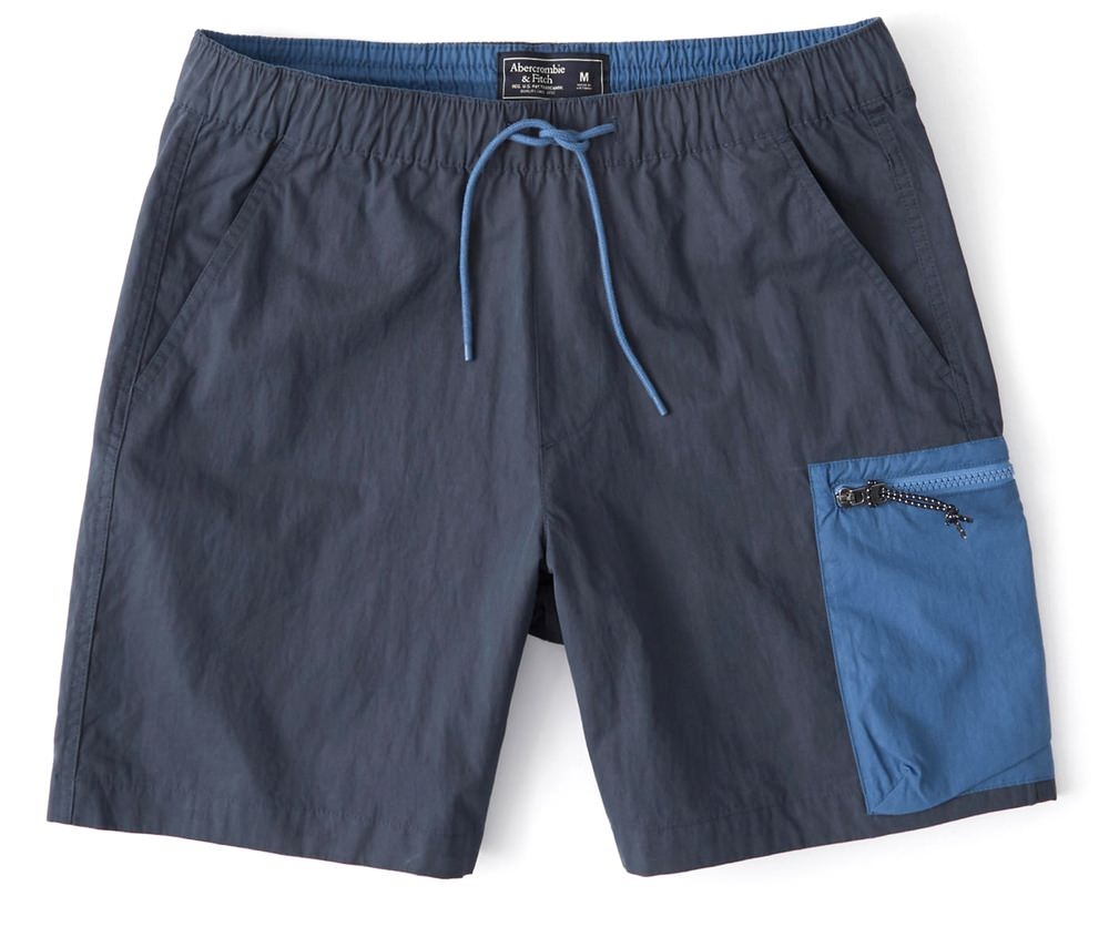 Abercrombie & Fitch Colorblock Nylon Shorts