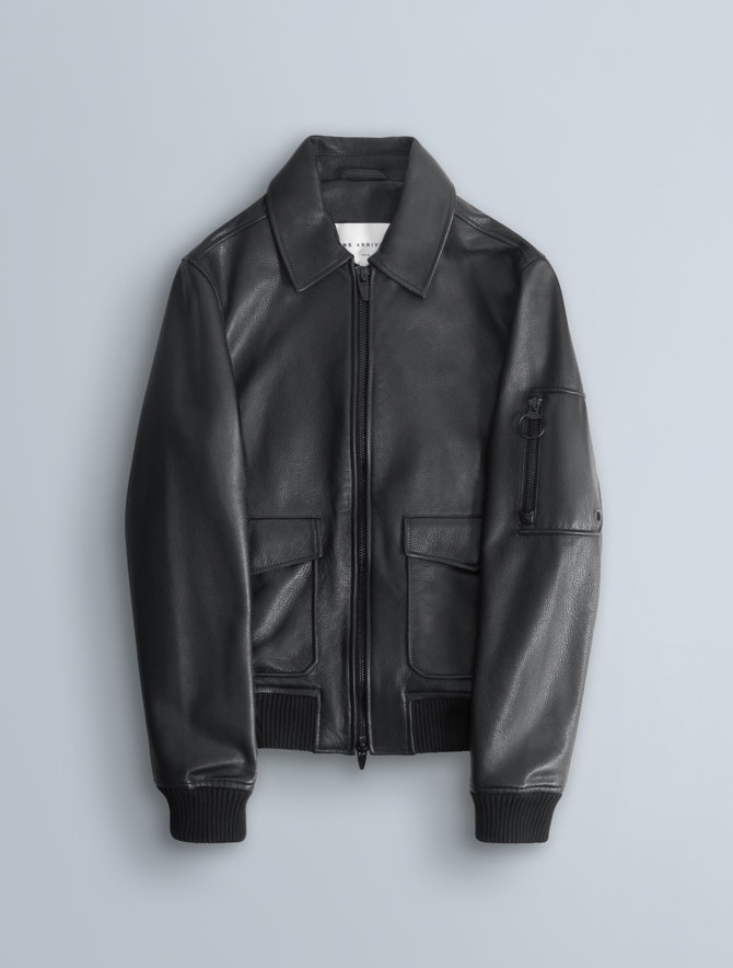 The Arrivals Leather Bomber Jacket