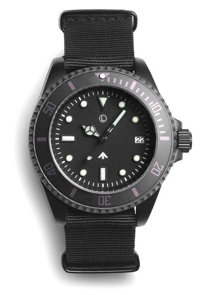 MWC Black Military Sub Watch
