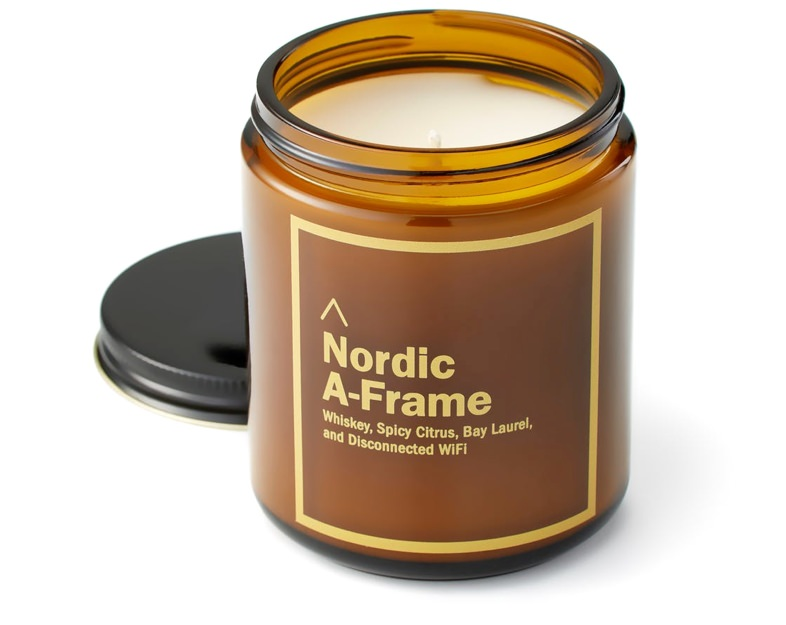 Huckberry Nordic A-Frame Cabin Candle