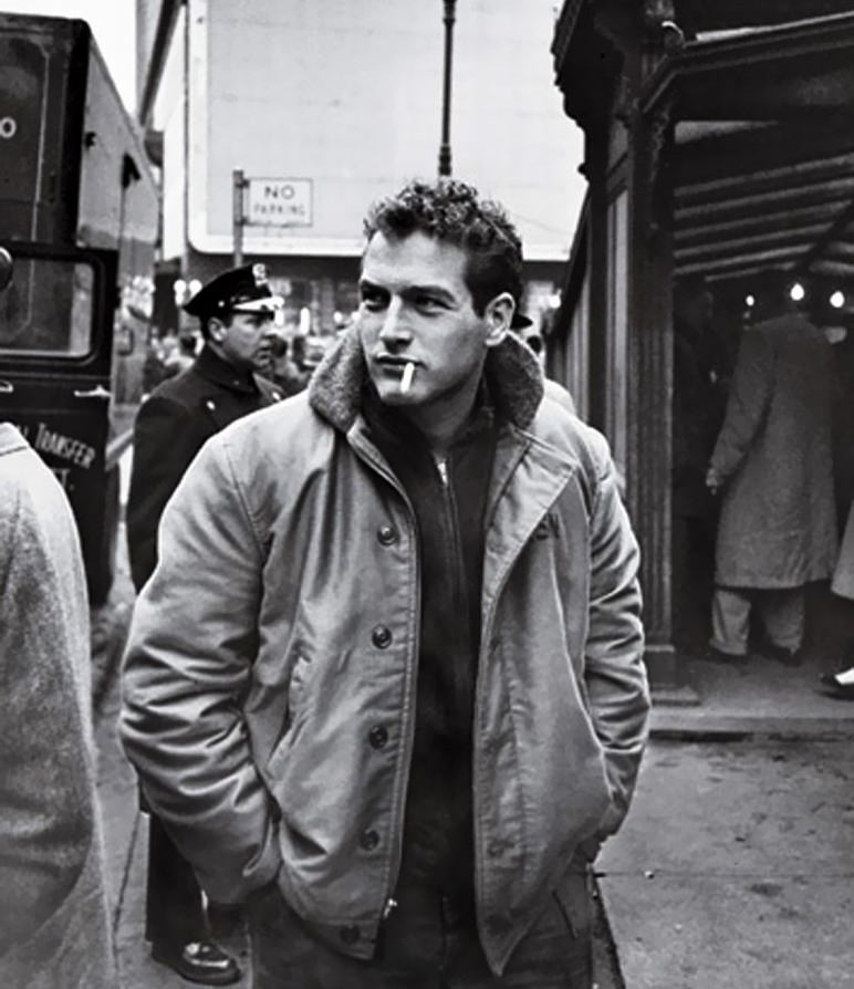 Paul Newman winter coat style