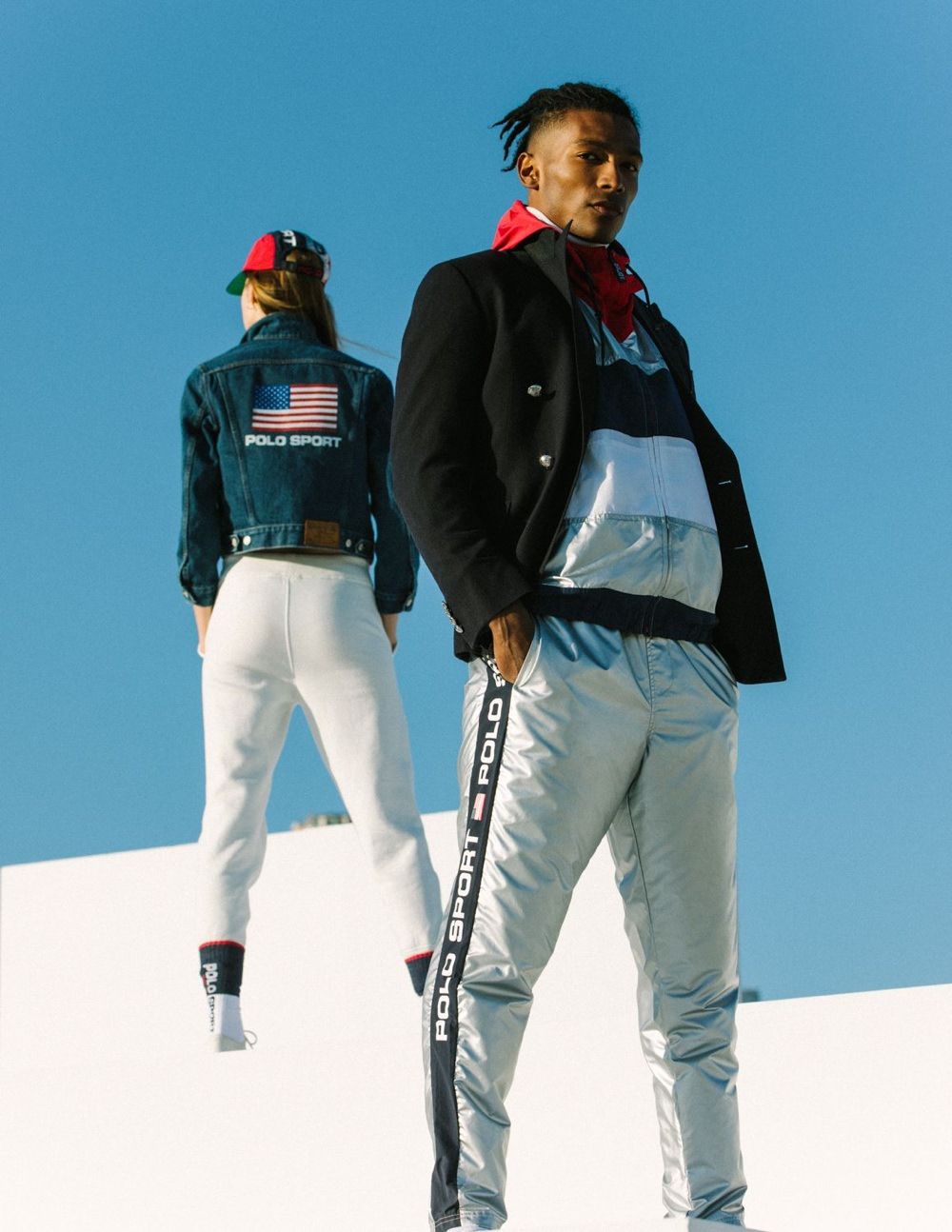 '90s menswear style inspiration in Polo Sport