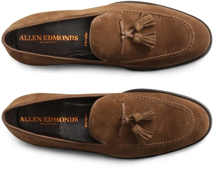 Allen Edmonds Perugia Suede Italian Loafers