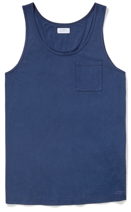 Saturdays NYC Indigo Tank