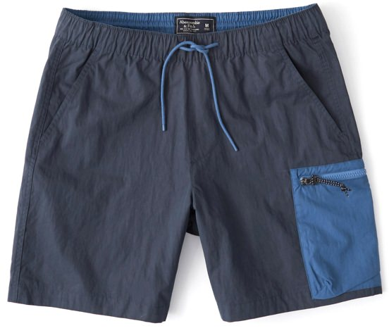 Abercrombie & Fitch Nylon Color Block Shorts