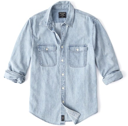 Abercrombie & Fitch Two-Pocket Denim Shirt