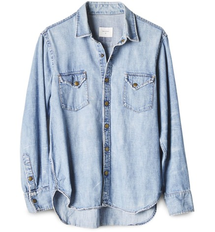 Billy Reid Washed Denim Shirt