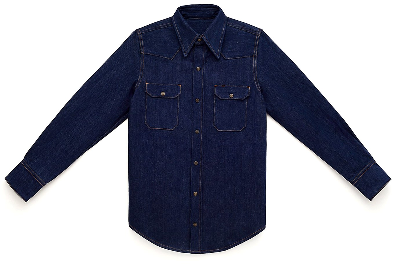 Calvin Klein Jeans Est. 1978 Italian Indigo Western Shirt