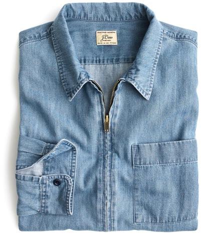 J.Crew Zip-Front Overshirt