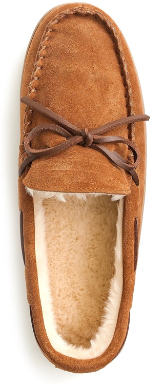 J.Crew Classic Suede Moccasins