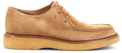 Tod's Suede Moc-Toe Lace-Ups