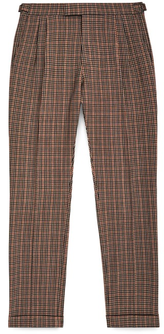 Reiss Check Cuffed Trousers