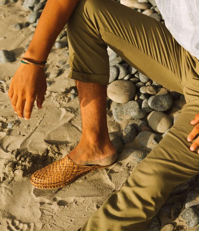 Mohinders woven leather slipper sandal