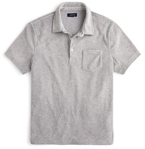 J.Crew Terrycloth Polo Shirt