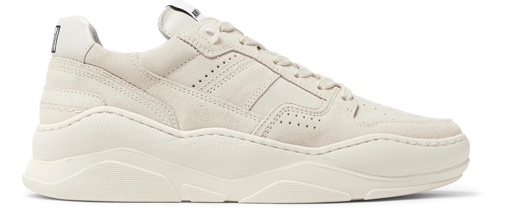 Ami Leather-Trimmed Sneakers