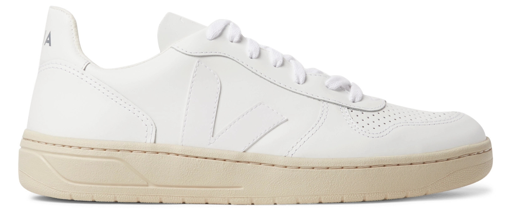 Veja V-10 Rubber-Trimmed Sneakers