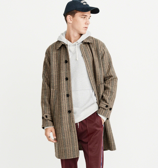 Abercrombie & Fitch Houndstooth Dad Coat