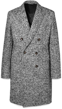 Mr P. Double-Breasted Boucle Overcoat