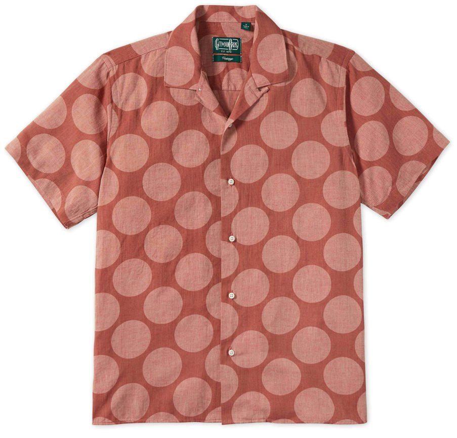 Gitman Bros. Vintage Brick Dot Camp Collar Shirt