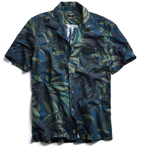 Todd Snyder Olive Palm Camp Collar Shirt