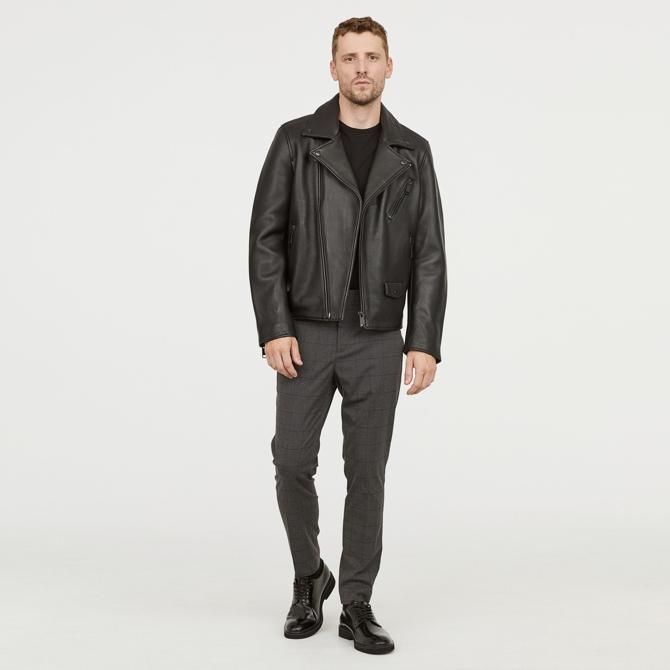 H&M Cotton Blend Plaid Pants