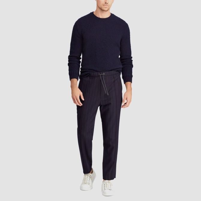 Polo Ralph Lauren Chalk Stripe Stretch Wool Drawstring Pants
