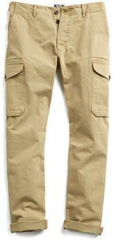 Todd Snyder Herringbone Cotton Cargo Pants