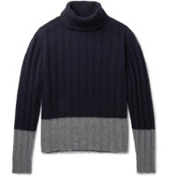 MP Massimo Piombo Color-Blocked Roll Neck