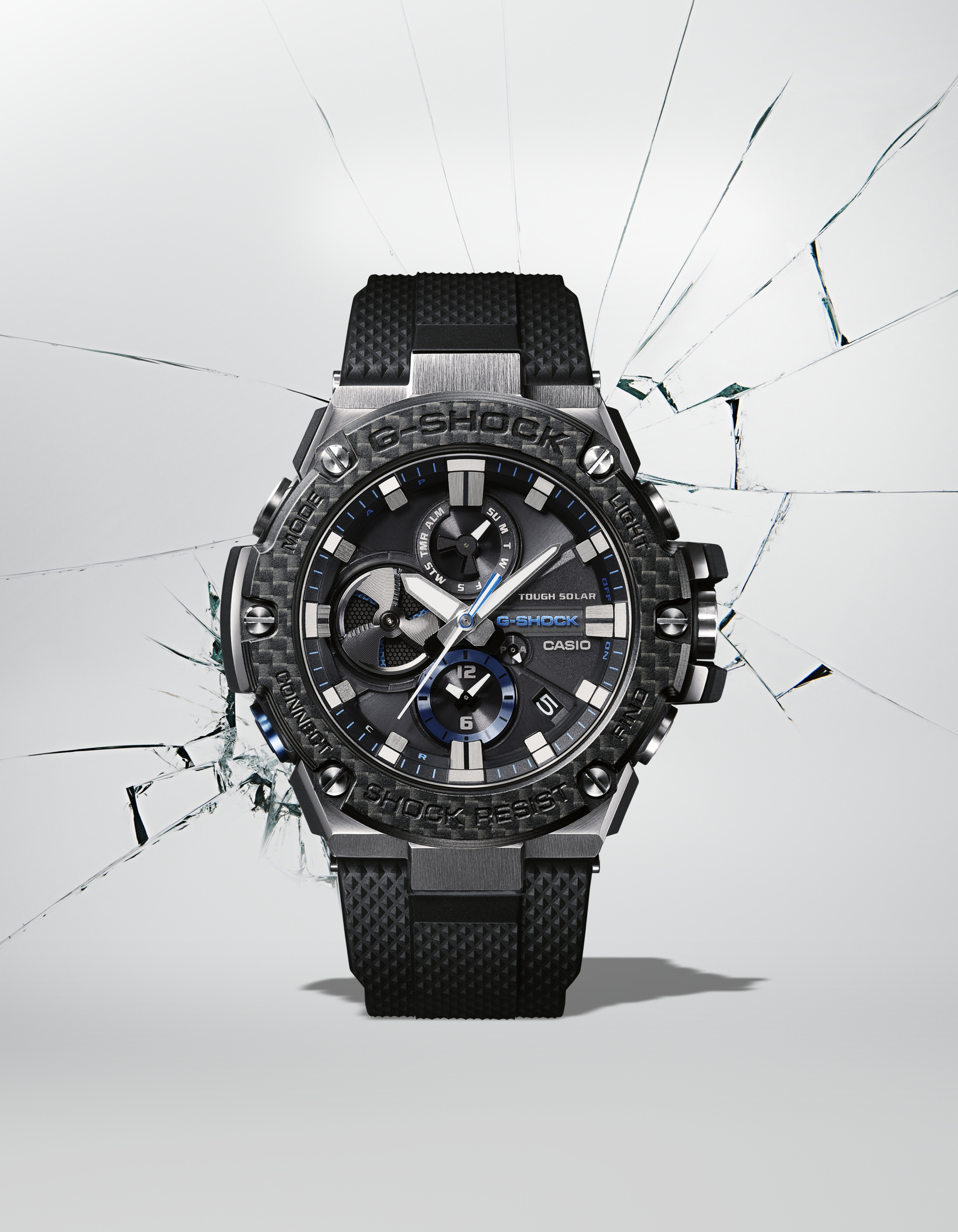 The G-SHOCK G-STEEL GSTB100XA-1A timepiece for men