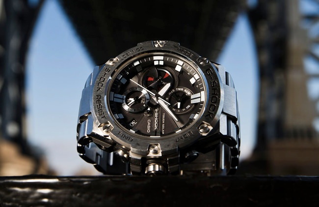 The G-SHOCK G-STEEL GSTB100D-1A watch case