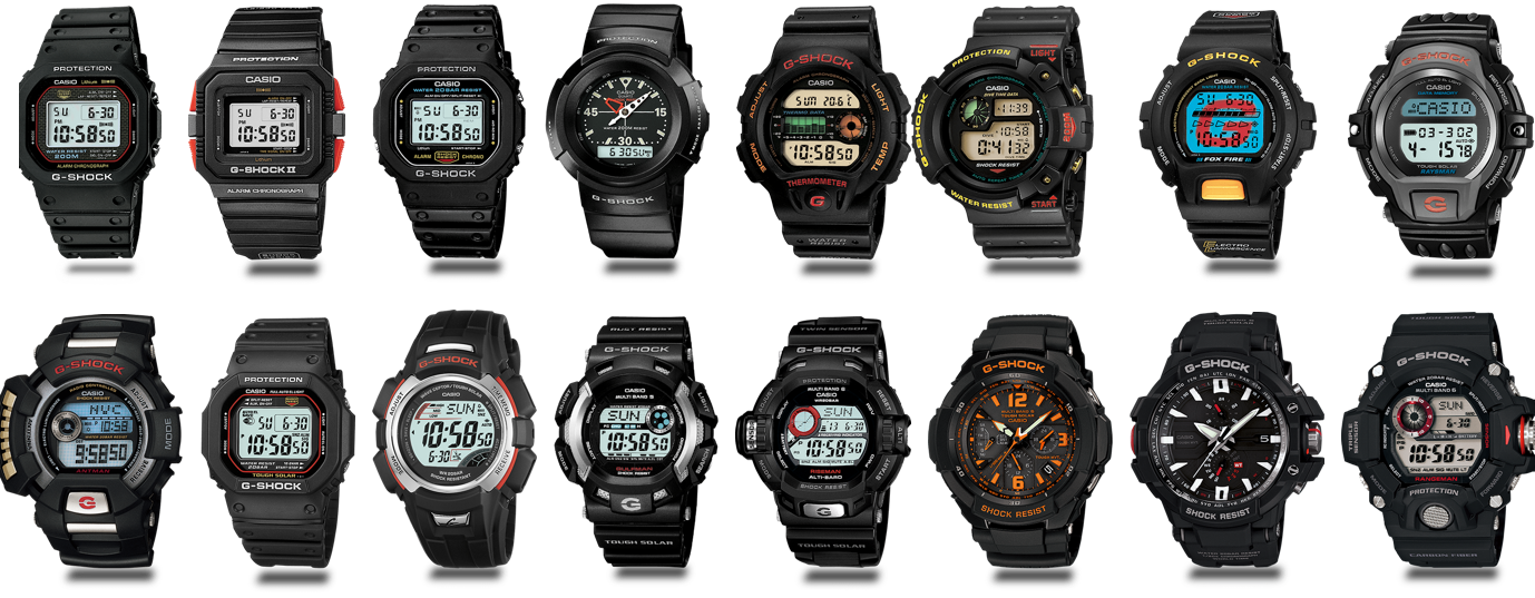 An evoltion of the G-SHOCK watch