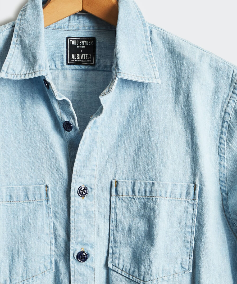 Todd Snyder denim overshirt