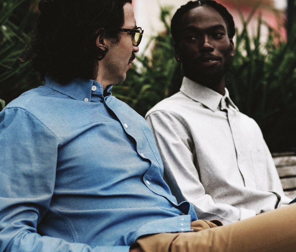 Men's nontraditional modern office dress shirts