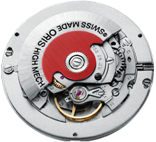 Oris watches red winding rotor