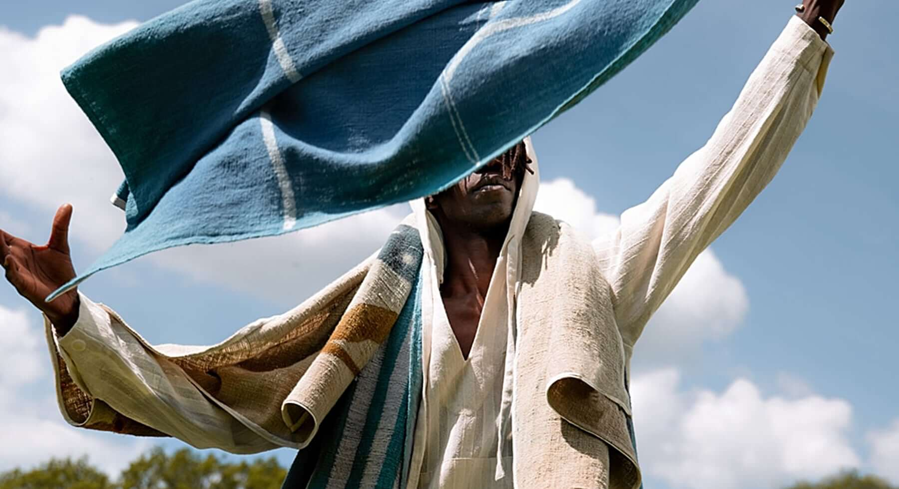 11.11/eleven elevaen Mud-resist indigo-dyed cotton beach towels