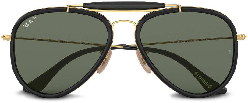 Ray-Ban Outdoorsman Reloaded Gold with Black Sunglasses