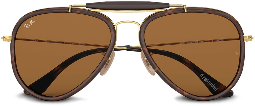 Ray-Ban Outdoorsman Reloaded Gold with Havana Tortoiseshell