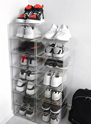 Sneakerhead Joel Mcloughlin proudly shows off his collection in Boxxinc boxes