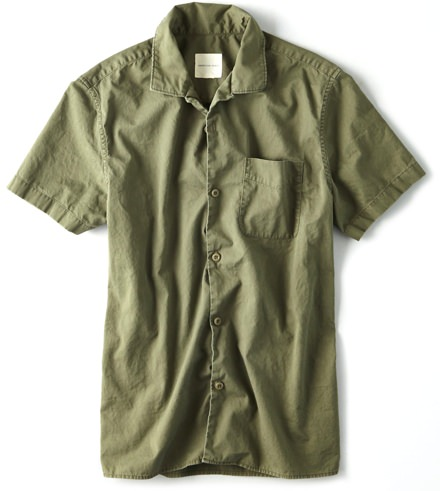 American Eagle Twill Camp Collar Shirt