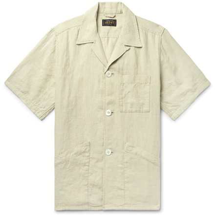 Beams Plus Linen Short Sleeve Overshirt