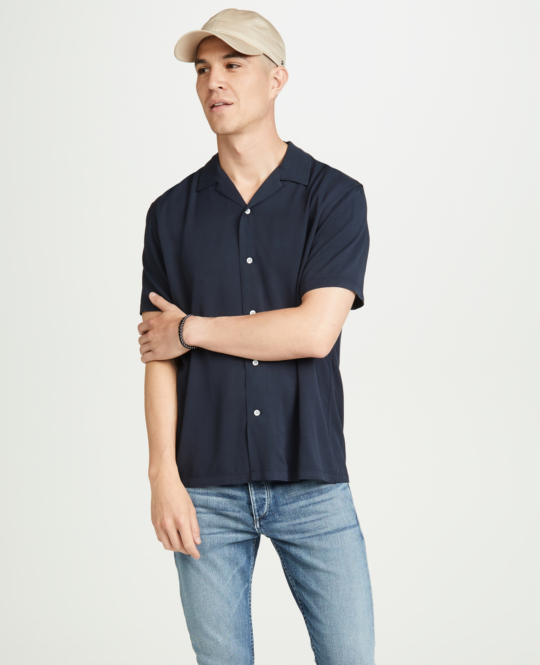 Solid color short sleeve shirts for summer