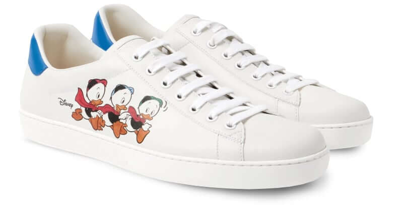 Gucci + Disney New Ace Printed Huey, Dewey and Louie Sneakers