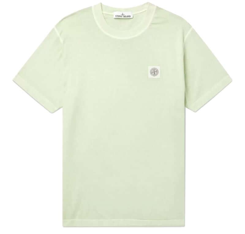 Stone Island Garment-Dyed Cotton-Jersey Tee