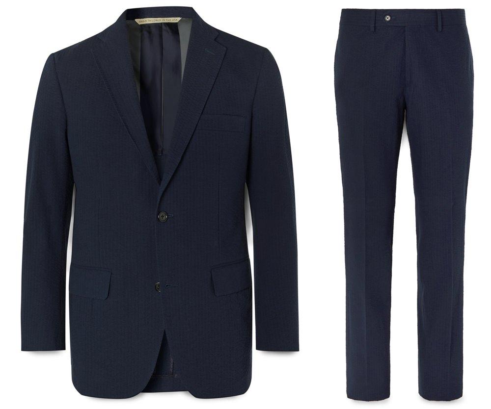 Freemans Sporting Club Cotton Seersucker Suit