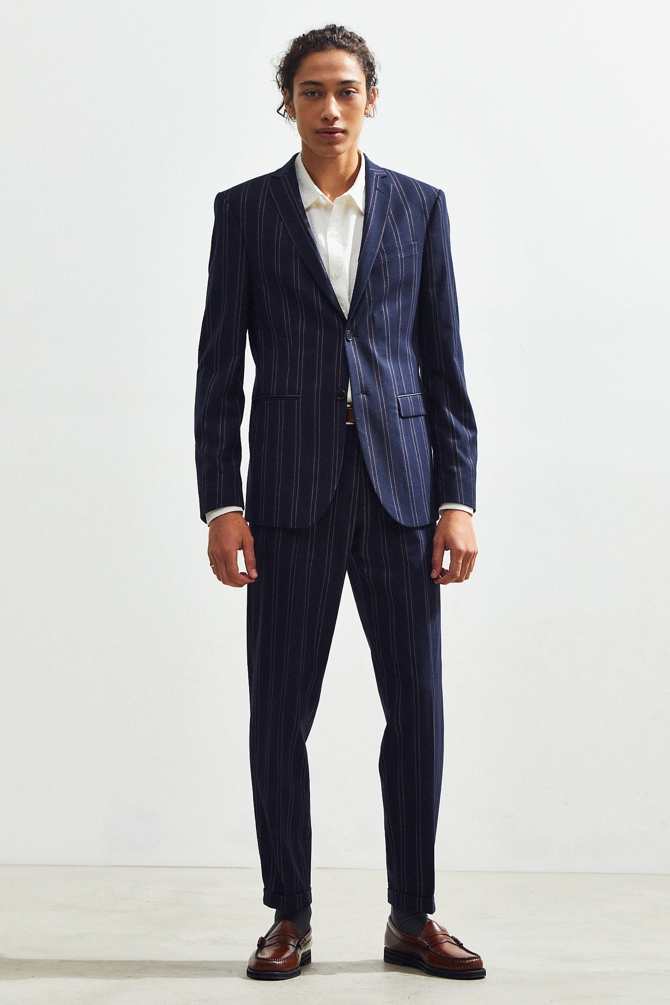 Urban Outfitters Pinstripe Relaxed Fit Blazer