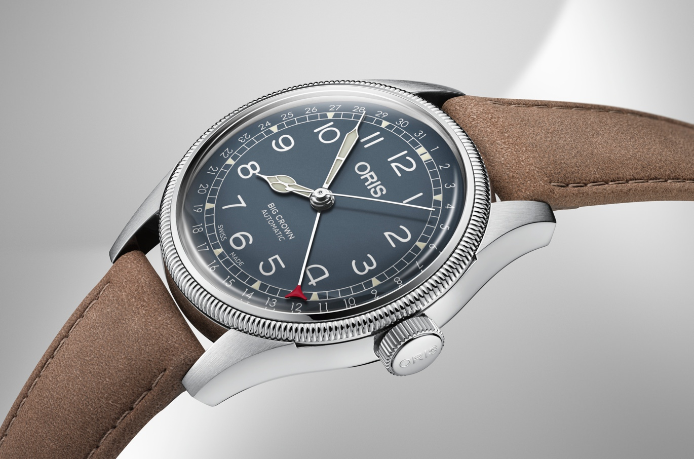Oris Big Crown Pointer Date Brown Leather
