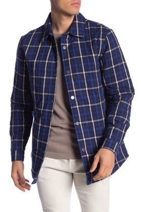 Slate & Stone Plaid Snap Shirt Jacket