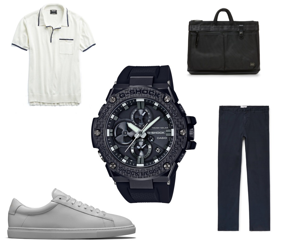 What to wear with the G-SHOCK G-STEEL GSTB100X-1A timepiece at the office