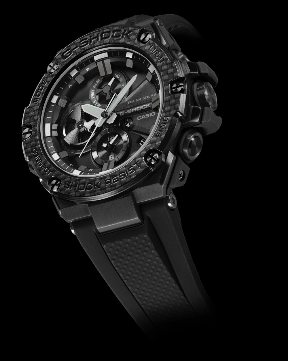 The G-SHOCK G-STEEL GSTB100X-1A timepiece